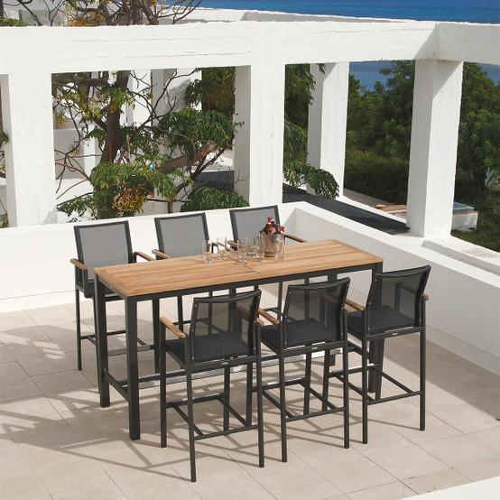 Aura Aluminum Rectangular Dining Table 78 Inch
