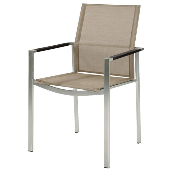 Mercury Stacking Armchair with Aluminum Armrests
