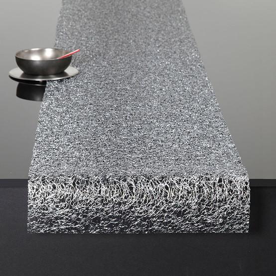 Metallic Lace Silver Runner