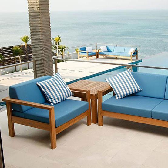 Linear Deep Seating Armchair with Cushion