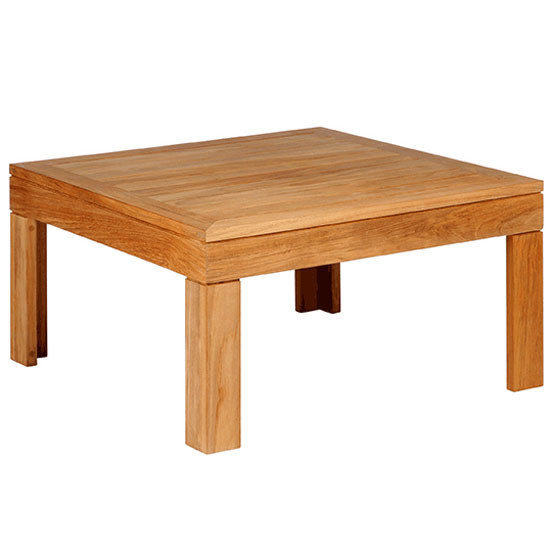 Linear 30 Inch Square Low Coffee Table