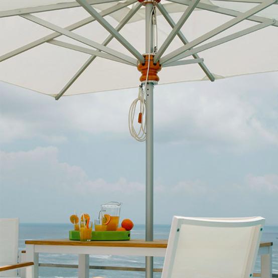 Sail Aluminum Rectangular Parasol 9 ft 9 in x 7 ft 3 in