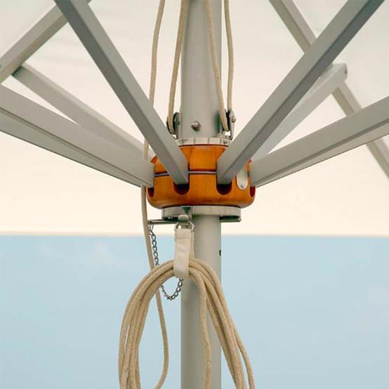 Sail Aluminum Square Parasol 8x8 feet