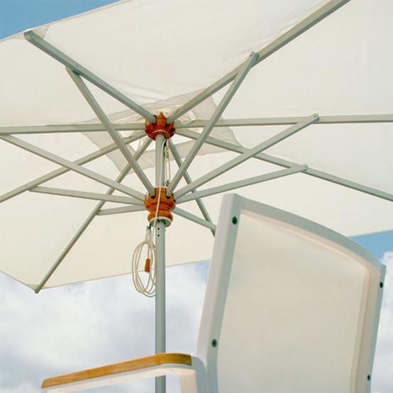 Sail Aluminum Rectangular Parasol 11 ft 5 in x 8 ft 2 in