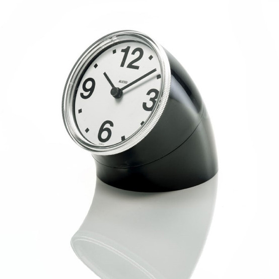 Cronotime Desk Clock in Black