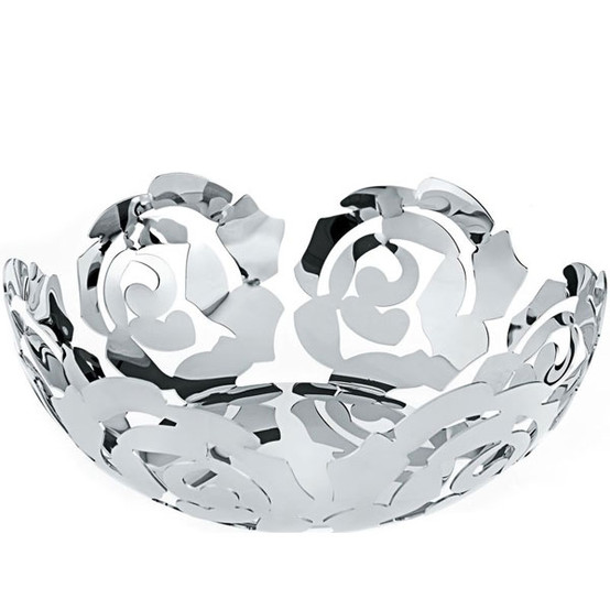 La Rosa Large Fruit Bowl in Silver