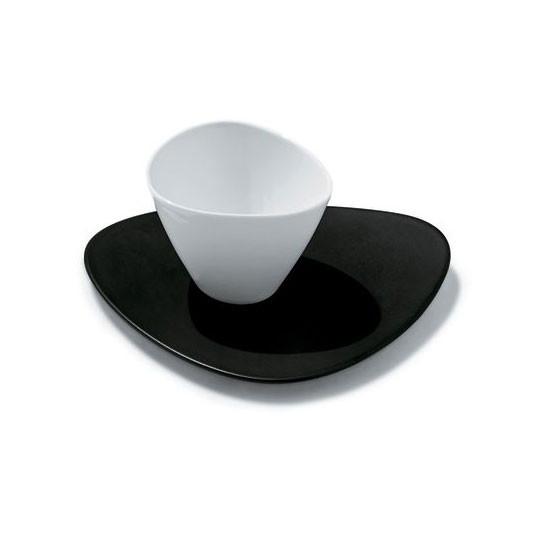 Colombina Black Saucer For Mocha/Espresso Cup