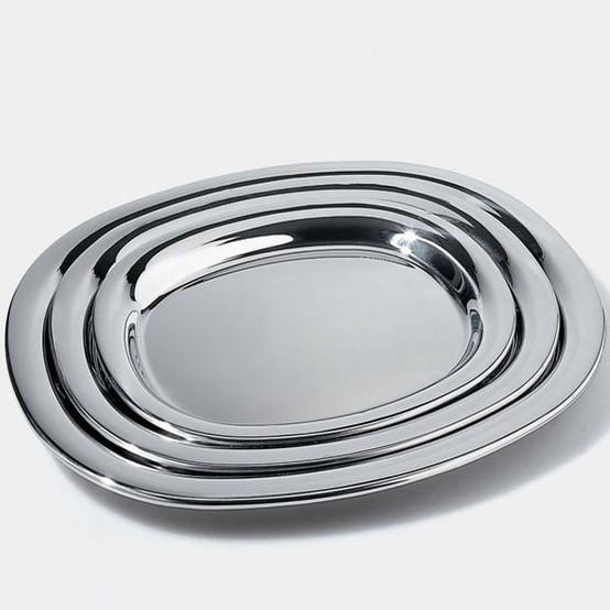 Serving Plate Polished Large