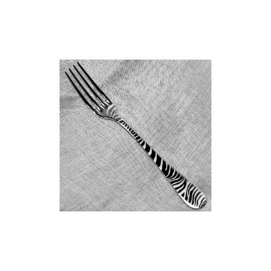 Zebra Dinner Fork