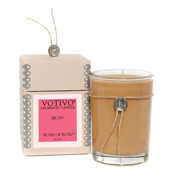 Rush Of Rose Scented Candle