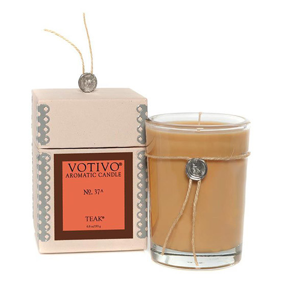 Teak Scented Candle