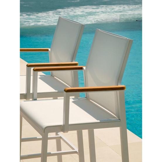 Aura Aluminum High Dining Carver Chair