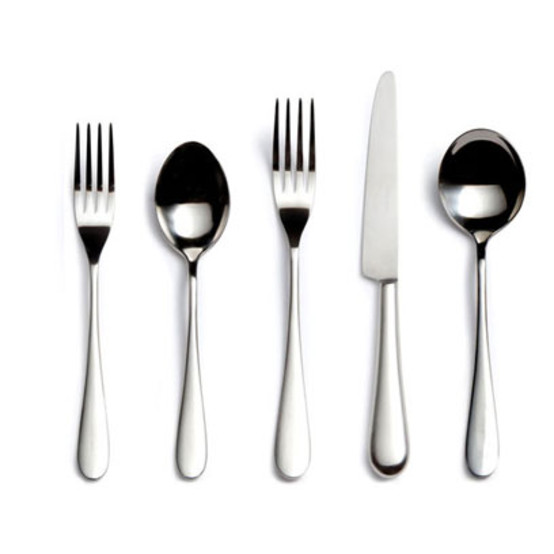 Paris Stainless Steel 5-Piece Place Setting