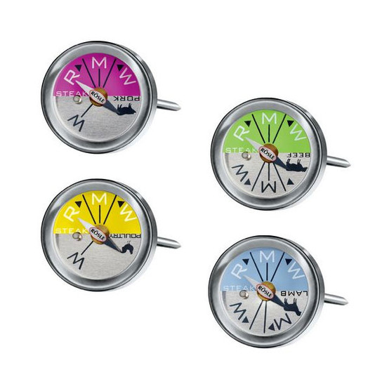 Steak and Meat Thermometers, Set of 4