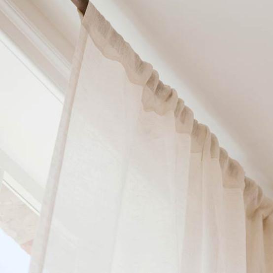 Casper Pole Pocket Linen Sheer Curtain