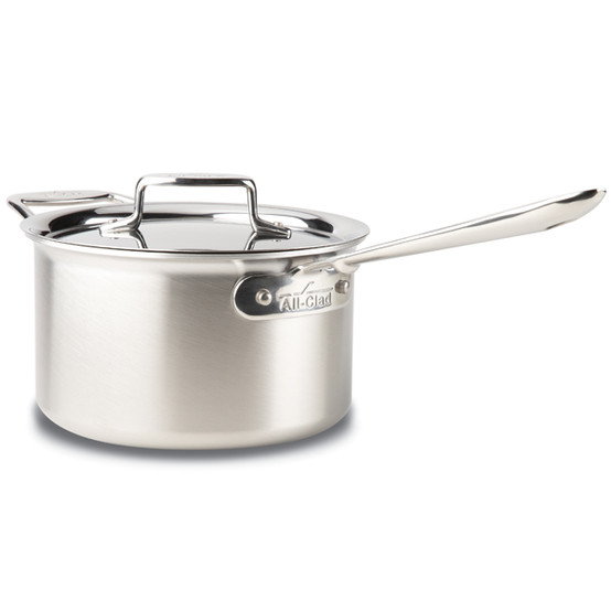 d5 Brushed Stainless Steel 4 Qt. Sauce Pan w/ Lid