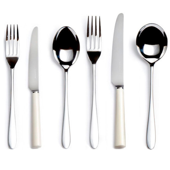 Pride Silver Plate Six-piece Place Setting-Ivory