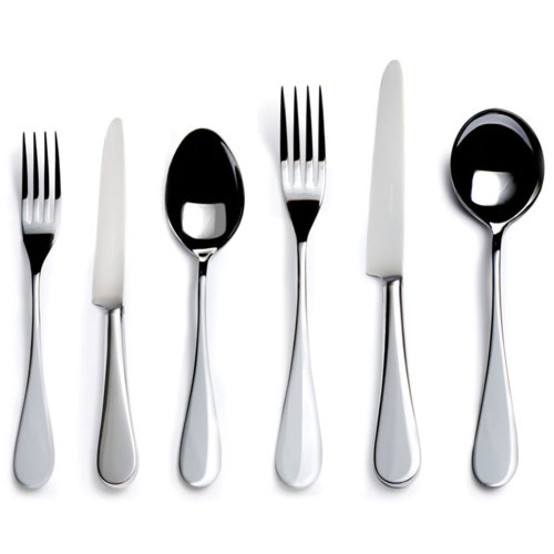 English Stainless Steel 6 piece Place Setting