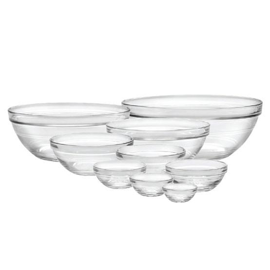 Lys Clear Bowl Stackable 9-Piece Set