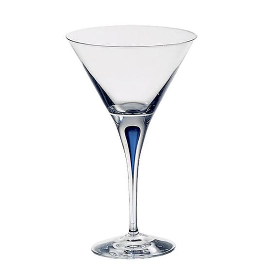 Intermezzo Blue Martini Glass Single