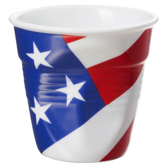 Espresso Tumbler White With American Flag