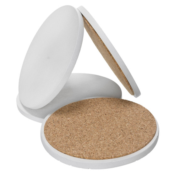 Round Concrete Coasters - White