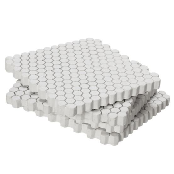 Small Hexagonal Concrete Coasters - White