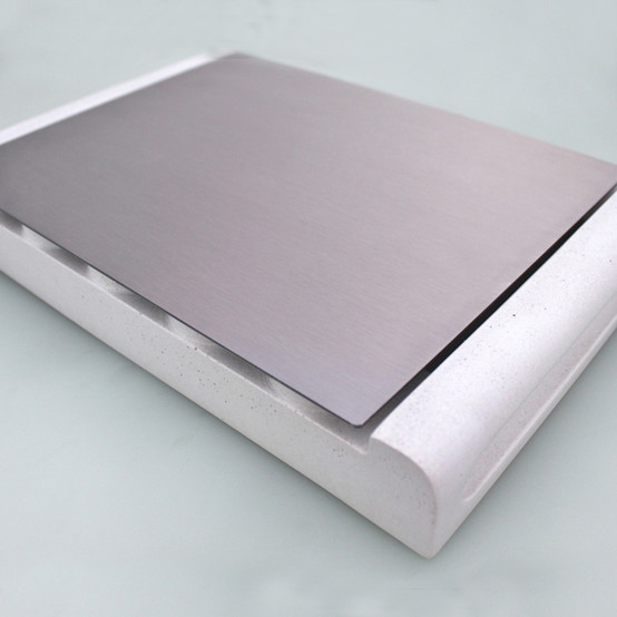 Module Concrete/Stainless Steel Tray - White