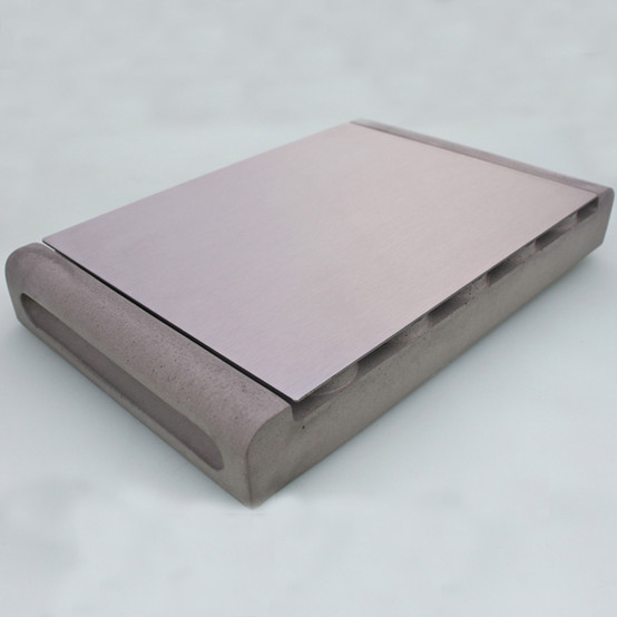 Module Concrete/Stainless Steel Tray - Gray