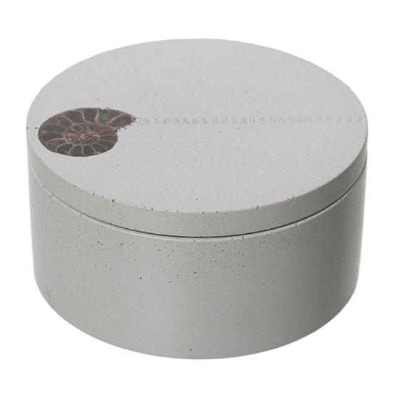 Inlayed Classic Salt Cellar - White
