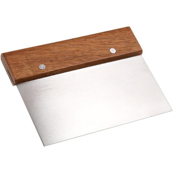 Bench Scraper with Wood Handle