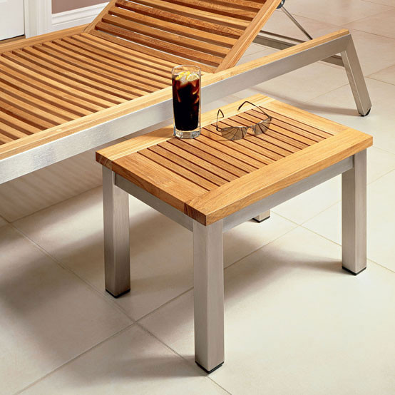 Equinox Rectangular Lounger Side Table
