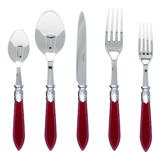 Baguette 5 pcs Place Setting-Red