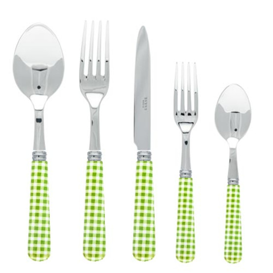Gingham 5 pcs Place Setting-Green