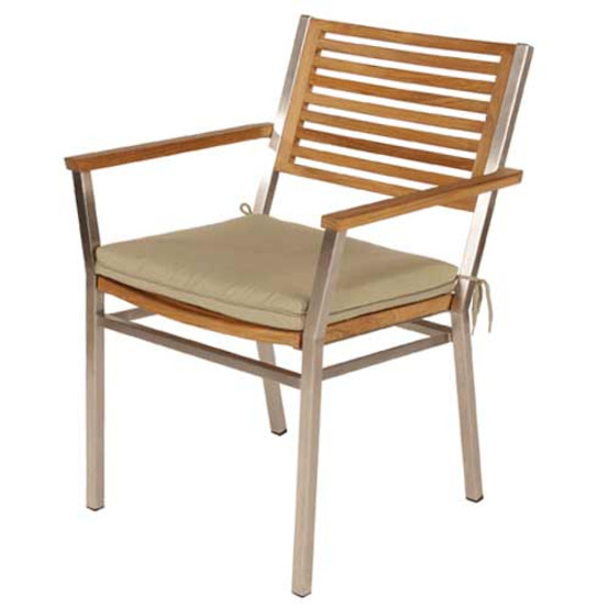 Equinox Stacking Armchair, Teak Seat & Back