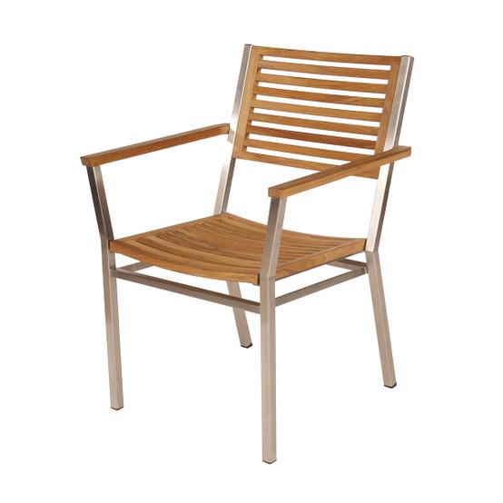 Equinox Stacking Armchair, Teak Seat & Back