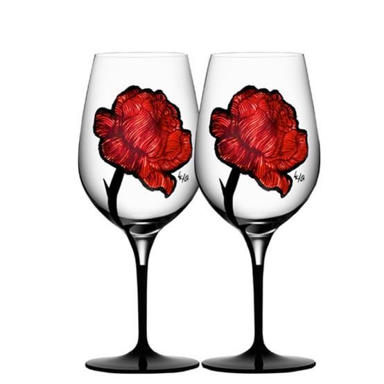 Tattoo Wine Glasses Pair
