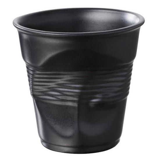 Cappuccino Crumple Tumbler Satin black