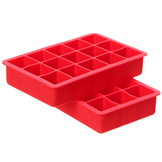 NEW Lekue Industrial Red Ice Cube Tray