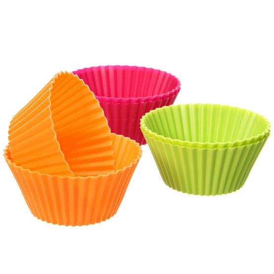 Silicone Muffin Cups - 6 piece