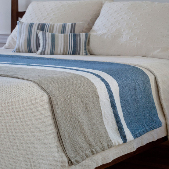 Patterned Linen and Cotton Blend Day Blanket