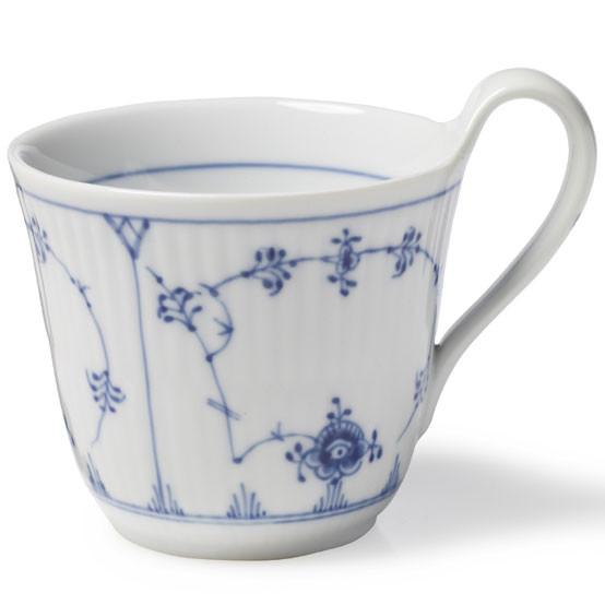Blue Fluted Plain Mug