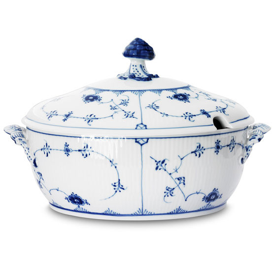 Blue Fluted Plain Tureen