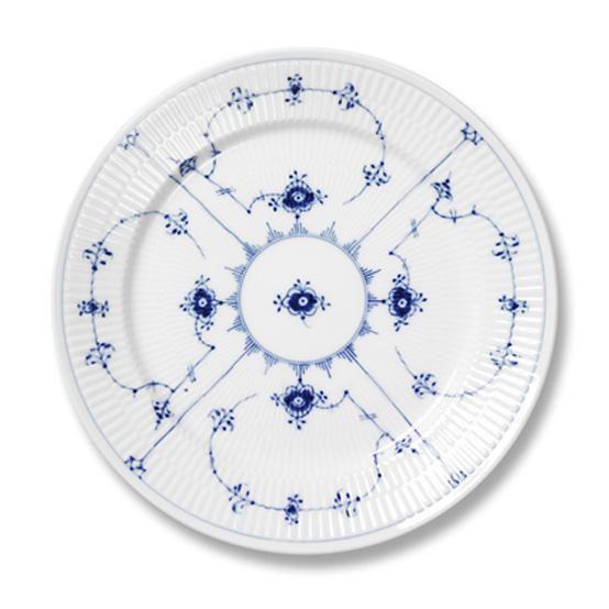 Blue Fluted Plain Dinner Plate