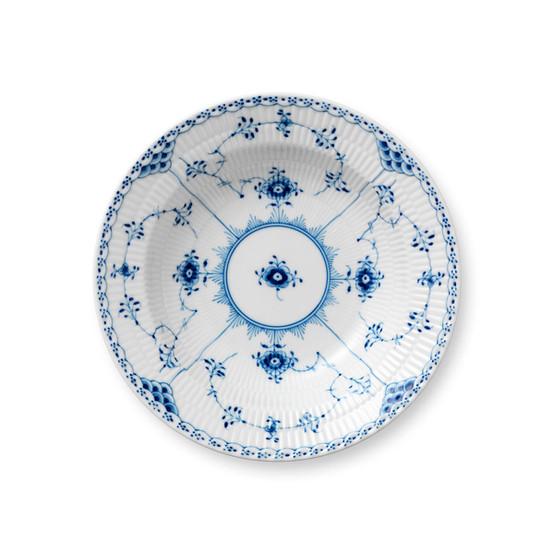 Blue Fluted Half Lace Soup Plate