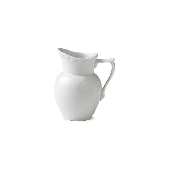 White Fluted Half Lace Creamer