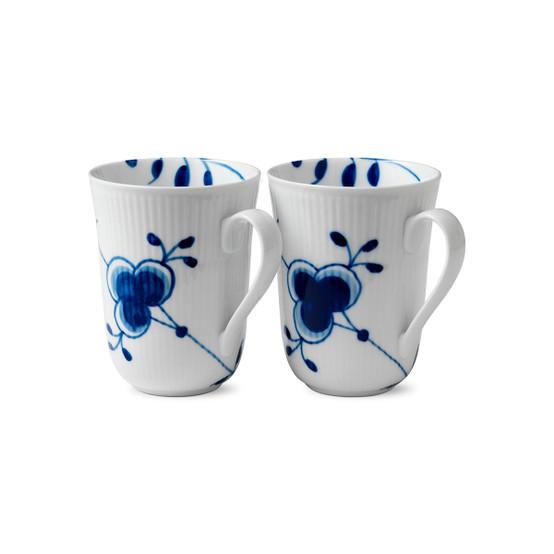 Blue Fluted Mega Mug 2-Pack