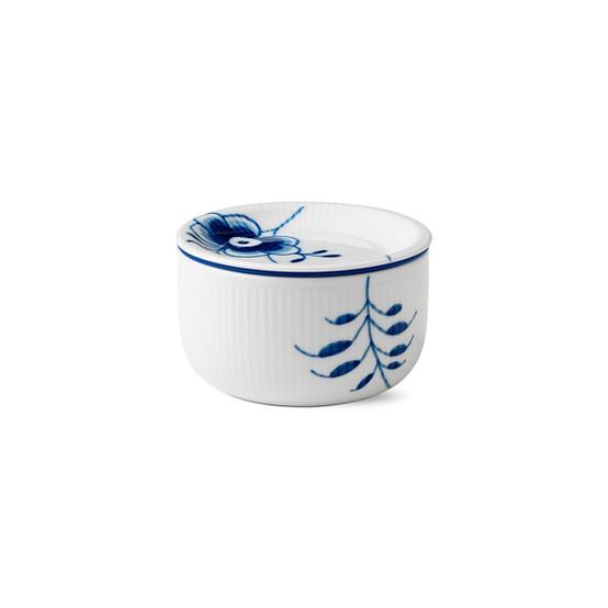 Blue Fluted Mega Storage Jar Small