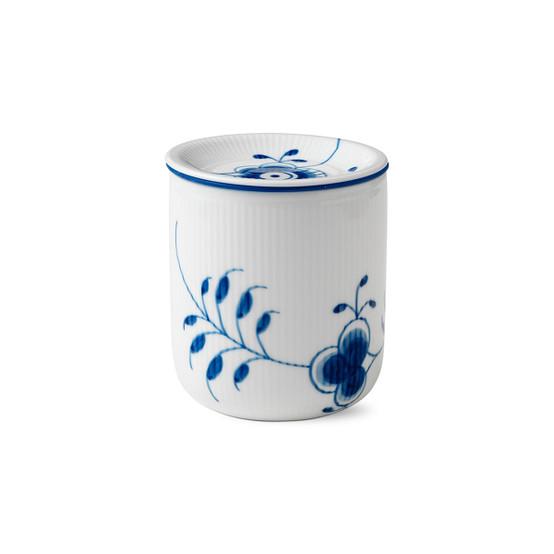 Blue Fluted Mega Storage Jar Medium