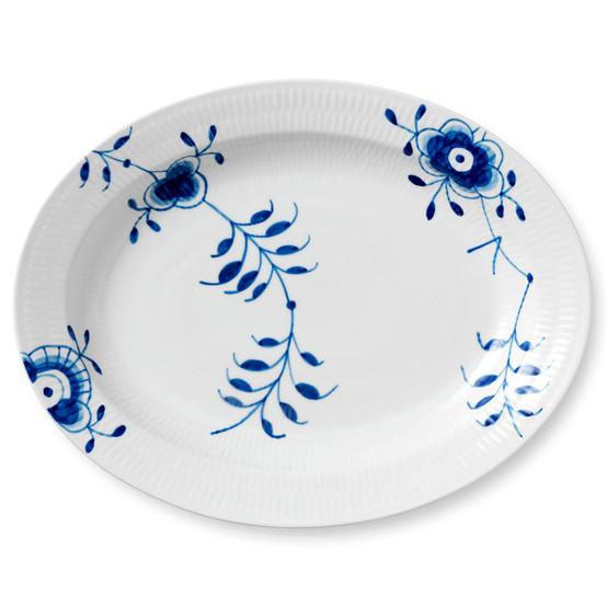 Blue Fluted Mega Oval Platter